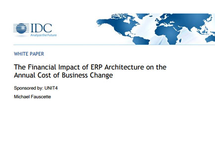 The Financial Impact of ERP Architecture on the Annual Cost of Business Change