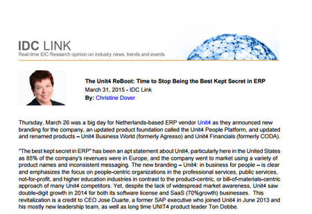 The Unit4 ReBoot: Time to Stop Being the Best Kept Secret in ERP