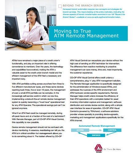 ATM remote management solutions