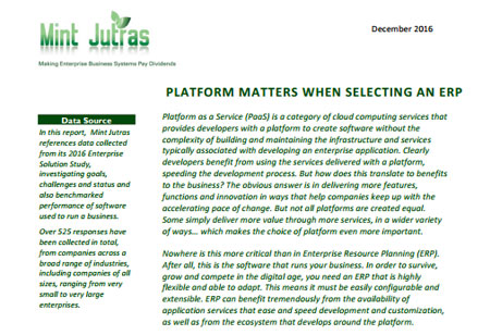 Platform Matters When Selecting An ERP
