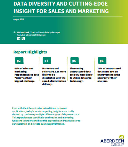 Data Diversity and Cutting-Edge Insight For Sales And Marketing