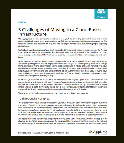 3 Challenges of Moving to a Cloud-Based Infrastructure