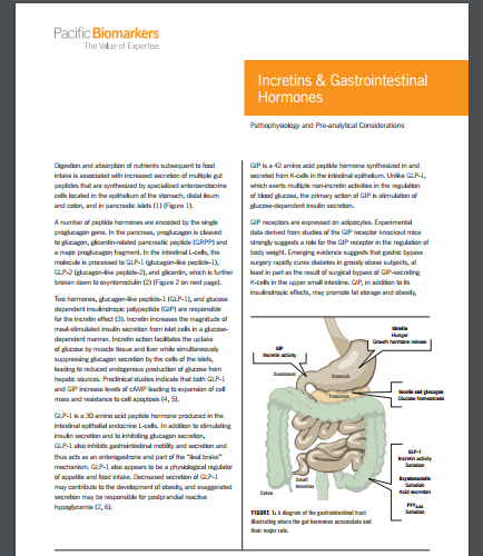 Incretins & Gastrointestinal Hormones: Pathophysiology and Pre-analytical Considerations