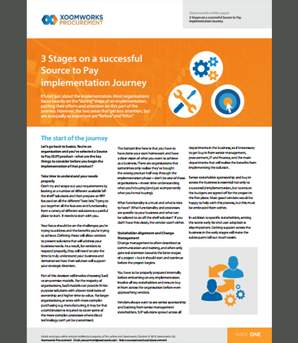 3 Stages on a Successful Source to Pay Implementation Journey