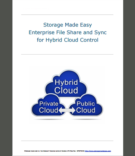Enterprise File Share and Sync for Hybrid Cloud Control