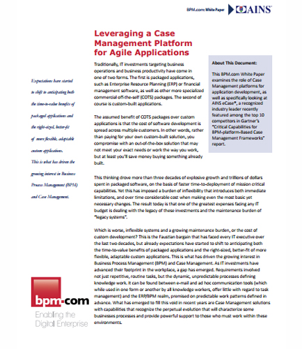 Leveraging a Case Management Platform for Agile Applications