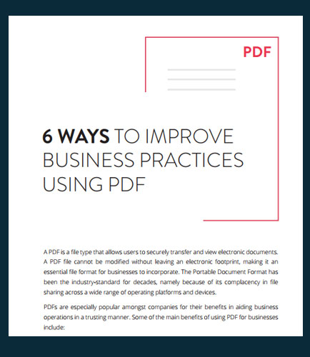 6 Ways to Improve Business Practices Using PDF