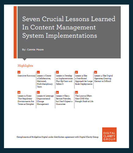 7 Crucial Lessons Learned In Content Management System Implementations