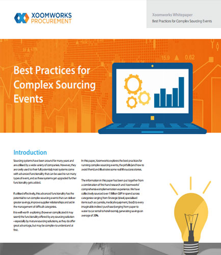 Best Practices for Complex Sourcing Events