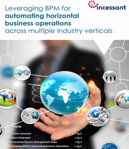 Leveraging BPM for Automating Horizontal Business Operations across Multiple Industry Verticals