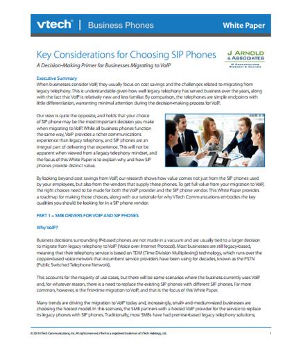 Key Considerations for Choosing SIP Phones