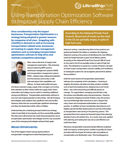 Using Transportation Optimization Software to Improve Supply Chain Efficiency