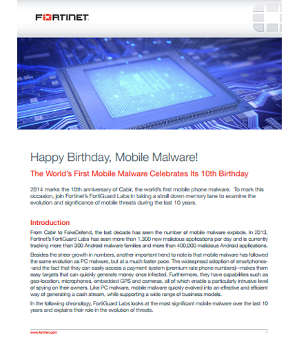 The World's First Mobile Malware Celebrates Its 10th Birthday