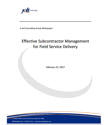 Effective Subcontractor Management for Field Service Delivery