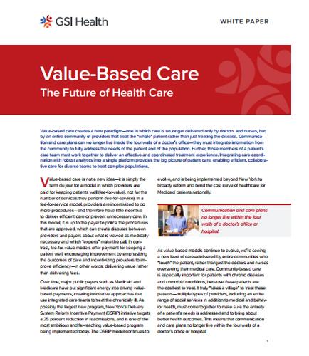 Value-Based Care The Future of Health Care