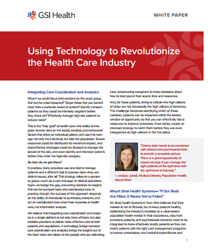 Using Technology to Revolutionize the Health Care Industry