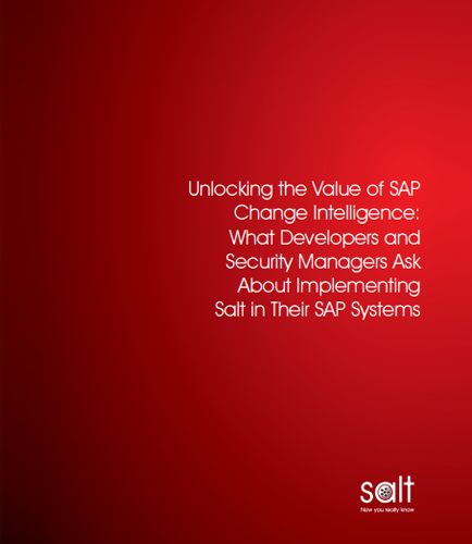 Unlocking the Value of SAP Change Intelligence: What Developers and Security Managers Ask About Implementing Salt in Their SAP Systems