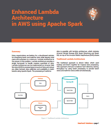 benefits of enhanced lambda architecture in aws using apache spark