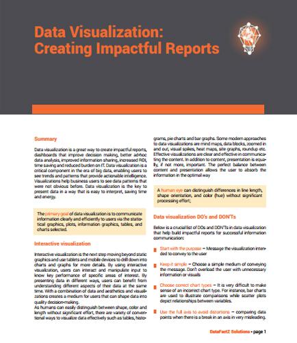 Data Visualization: Creating Impactful Reports