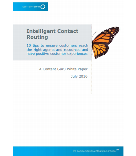 Intelligent Contact Routing