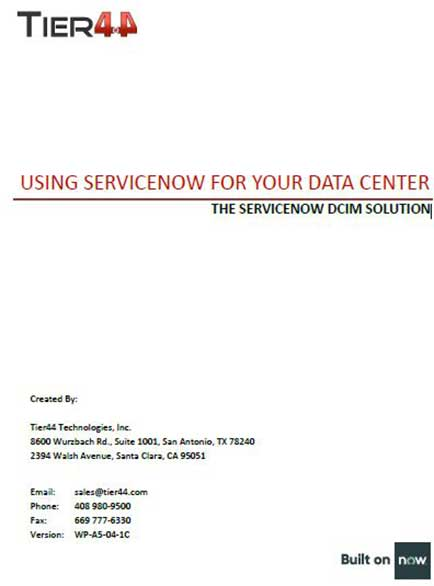 Using SERVICENOW for your Data Center