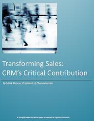 Transforming Sales:CRM's Critical Contribution