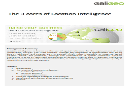The 3 cores of Location Intelligence