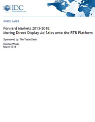 Forward Markets 2013-2018:Moving Direct Display Ad Sales on to the RTB Platform