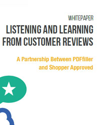 Listening and Learning from Customer Reviews
