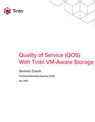 Quality of Service (QOS) With Tintri VM-Aware Storage