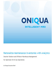Rationalize Maintenance Inventories with Analytics: Smarter Onshore and Offshore Warehouse Management for Upstream Oil & Gas Operations