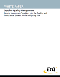 Supplier Quality Management