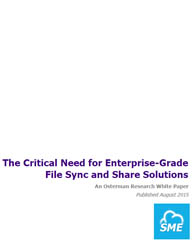 Enterprise file sync and sharing (EFSS) solution are better choice for organization