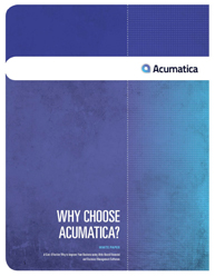 Why Choose Acumatica?