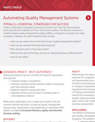 Automating Quality Management Systems