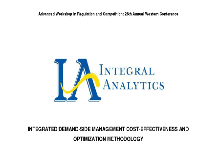 Integrated Demand-Side Management Cost-Effectiveness and Optimization Methodology