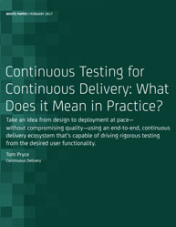 Continuous Testing for Continuous Delivery: What Does it Mean in Practice?