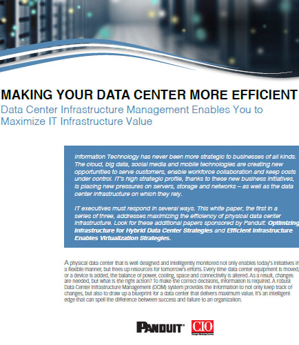 Data Center Infrastructure Management Enables You to Maximize IT Infrastructure Value
