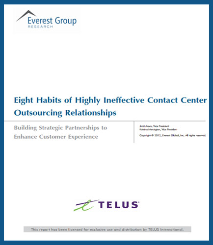 Eight Habits of Highly Ineffective Contact Centre Outsourcing Relationships