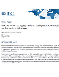 Enabling Access to Aggregated Data and Quantitative Models for Competitive Advantage