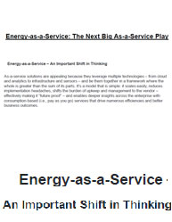 Energy-as-a-Service: The Next Big As-a-Service Play
