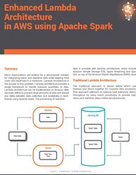 Enhanced Lambda Architecture in AWS using Apache Spark