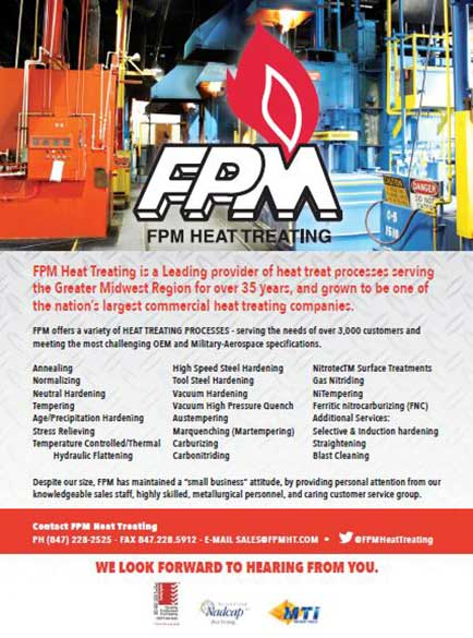 FPM Heat Treating Best in the Midwest