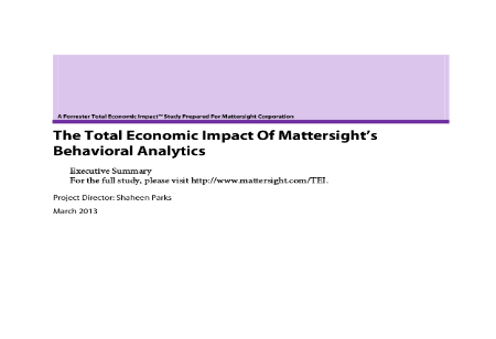 The Total Economic Impact of Economic Sight's Behavioral Analytics