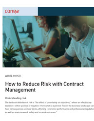 How to Reduce Risk with Contract  Management