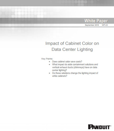 Impact of Cabinet Color on Data Center Lighting