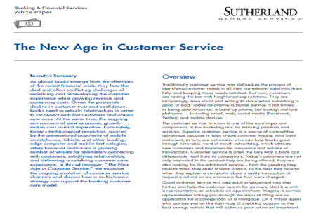 The New Age in Customer Service