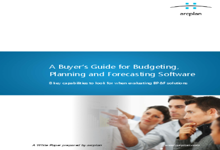 A Buyer's Guide for Budgeting, Planning and Forecasting Software
