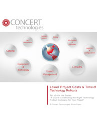 Lower Project Costs & Time of Technology Rollouts