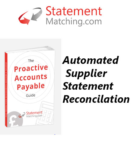 Proactive Reconciliation of Supplier Accounts